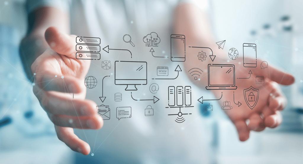 שירותי יעוץ מקצועיים - מחשב וירטואלי בין שתי ידיים